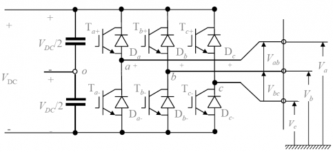 The topology of a conventional two-level VCS using IGBT switches